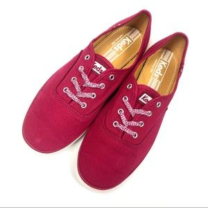 Keds | Canvas Wine Color Low Women's Sneakers